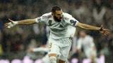 欧冠皇马2-2巴黎,本泽马梅开二度,大巴黎两分钟连扳两球