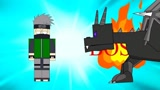 我的世界格斗动画第325集:BOSS登场!末影龙!