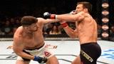 UFC经典格斗,比斯平重拳两次击倒霍尔德,继续补拳!