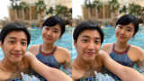 福原爱和老公泳池打闹,展现丰满曲线身材,31岁还如同少女!
