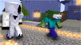 Minecraft动画:实体303攻击怪物学校,僵尸救了大家!