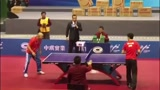 中国老大爷名场面 国乒一哥马龙被小区大爷打个9-0