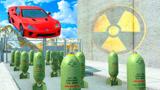 小车能否飞跃十排炸弹?老外3d动画实测模拟,场面十分硬核!