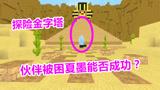 迷你世界:探险金字塔塔内处处是岩浆伙伴被困夏墨能否成功?