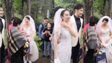 鐘麗緹蔡少芬穿婚紗同框比美,有誰注意到張倫碩的舉動嗎?