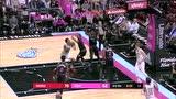 NBA零距离面对科林斯上篮 白边先是送上降龙十八掌扇飞