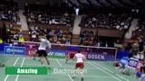 专业羽毛球混双速度超想像,渡边勇大的攻击力