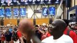 保罗在训练营与乔丹以投篮打赌!篮球之神无惧干扰弹无虚发!
