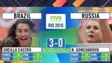 冰与火的较量!里约奥运会俄罗斯vs巴西全场精彩回顾!