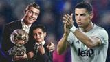 假如孩子的世界也有金球奖 那C罗的儿子一定是大热门