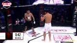 武林传奇澳门站,杨展望首回合压哨一记勾拳TKO阿帕尔获胜