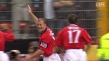 欧洲杯名场面-希勒一锤定音!2000欧洲杯英格兰击败死敌德国队