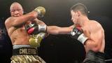 拳王比沃尔的技术真的太出色了,油滑的齐伦巴也被他牢牢控制
