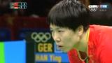 经典回放:里约奥运乒乓球女团决赛第一场,李晓霞VS韩莹