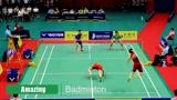 羽毛球表演赛:掌声不停,杀球不止