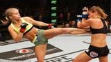 UFC女子格斗,佩奇大战凯琳妹子的地面砸拳也很凶悍!
