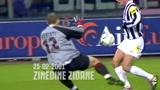尤文对阵AC米兰10佳球:齐达内写意挑射 巴乔狮子甩头