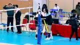 身高2米的可爱姑娘 袁心玥比赛前与国家队友嬉戏打闹