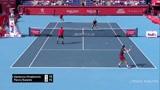 网球双打比赛中产生的精彩绕柱球,你值得拥有!'