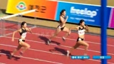 韩国市道田径对抗大赛女子100米栏决赛