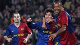 """经典回顾:08-09赛季欧冠巴萨5-2里昂 梅西破门亨利""""梅开二度"""""""
