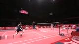 羽毛球 顶级球员的精准吊球 动作一致性真好