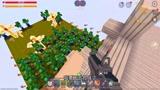 迷你世界:快跑啊!史蒂夫僵尸进攻迷你,城堡要塌了